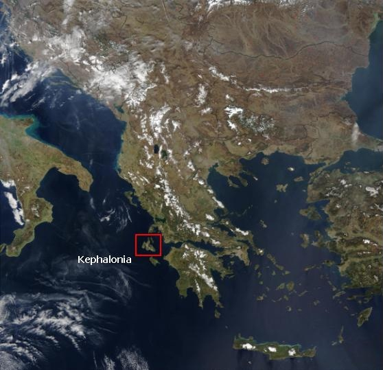 Fig. 1. The location of Kephalonia.